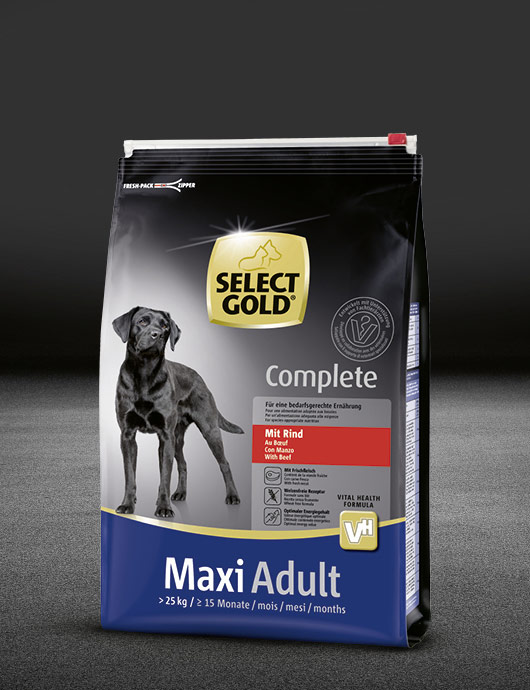 select gold complete maxi adult mit rind beutel trocken 530x890px