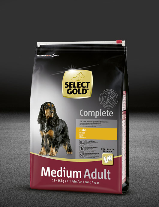 select gold complete medium adult huhn beutel trocken 530x890px
