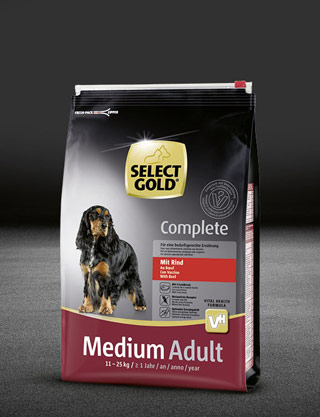 select gold complete medium adult mit rind beutel trocken 320x417px