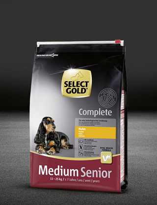 select gold complete medium senior huhn beutel trocken 320x417px