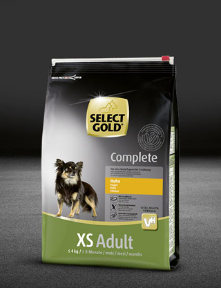 select gold complete xs adult huhn beutel trocken 320x417px