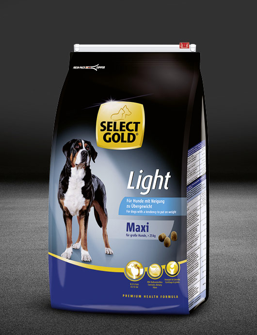select gold light maxi huhn beutel trocken 530x890px