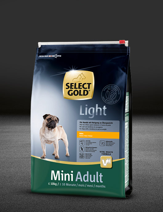 select gold light mini huhn beutel trocken 530x890px