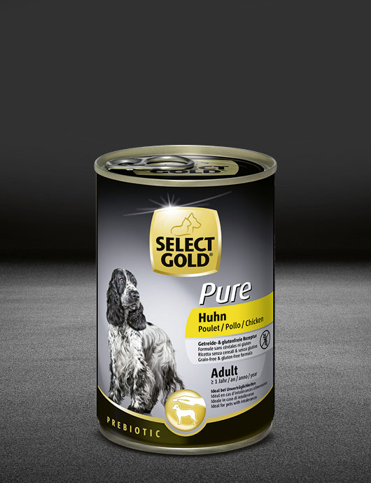 select gold pure huhn dose nass 530x890px