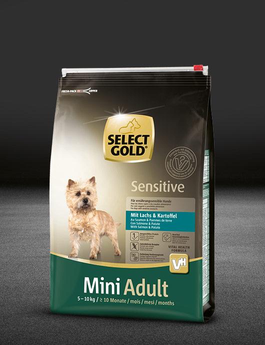 select gold sensitive mini adult mit lachs kartoffel select gold. Black Bedroom Furniture Sets. Home Design Ideas