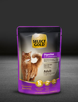 select gold digestion adult pute mit reis pouch nass 320x417px