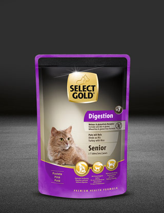select gold digestion senior pute und reis pouch nass 320x417px