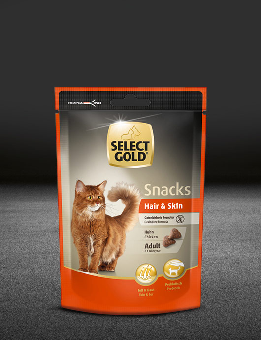 select gold hair und skin snack adult huhn pouch snacks 530x890px