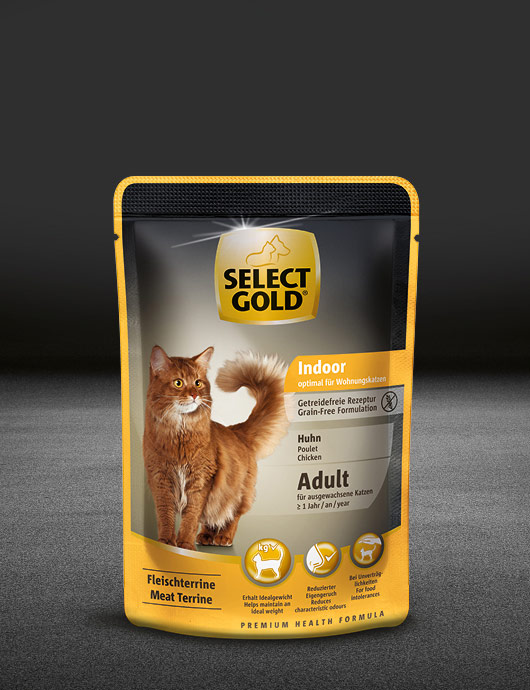 select gold indoor adult huhn pouch nass 530x890px