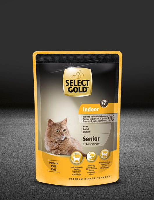 select gold indoor senior huhn pouch nass 530x890px