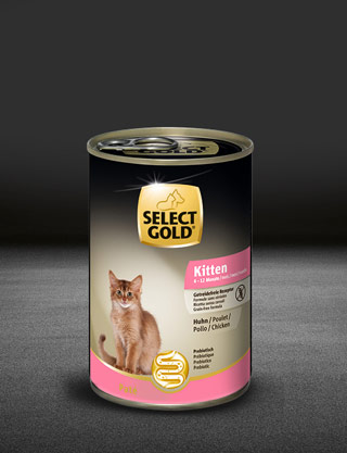 select gold kitten huhn dose nass 320x417px