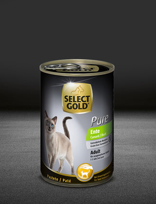select gold pure adult ente dose nass 320x417px