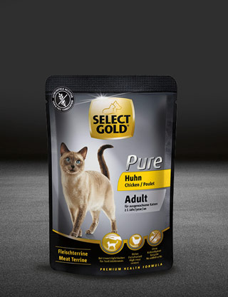 select gold pure adult huhn pouch nass 320x417px