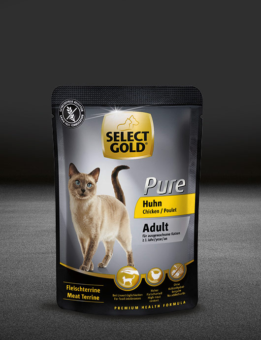 select gold pure adult huhn pouch nass 530x890px