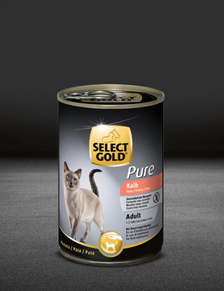 select gold pure adult kalb dose nass 320x417px