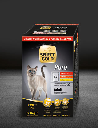 select gold pure adult multipack pouches pouch nass 320x417px
