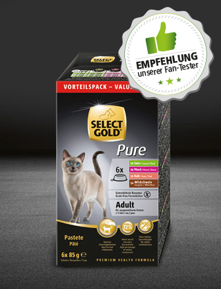 select gold pure adult multipack schale schale nass 320x417px