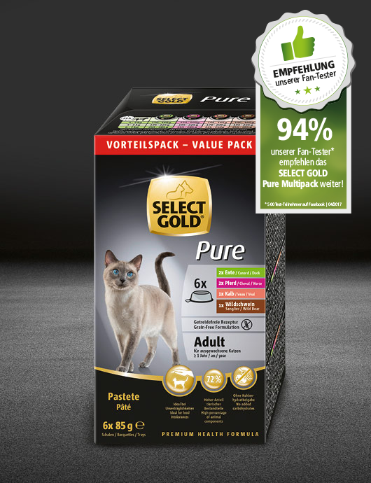 select gold pure adult multipack schale schale nass 530x890px