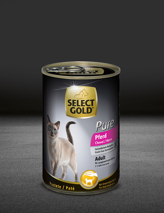 select gold pure adult pferd dose nass 530x890px