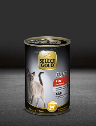 select gold pure adult rind dose nass 320x417px