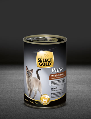 select gold pure adult wildschwein dose nass 320x417px