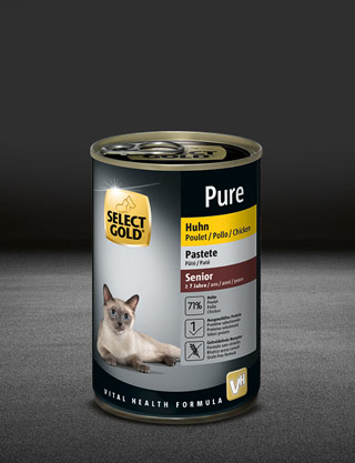 select gold pure senior huhn dose nass 320x417px