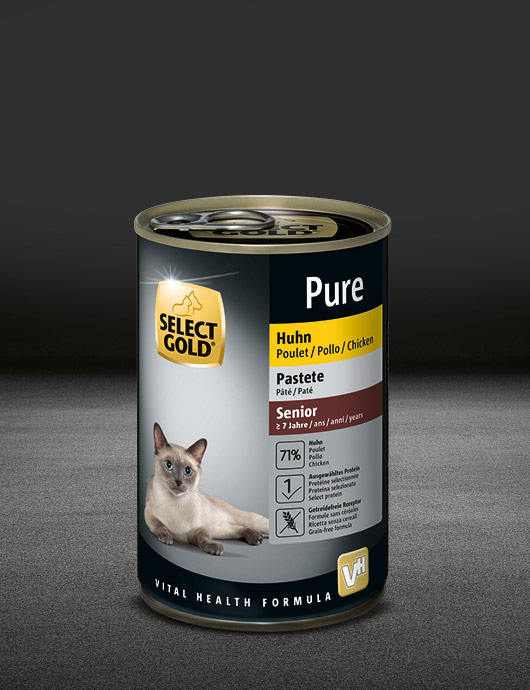 select gold pure senior huhn dose nass 530x890px