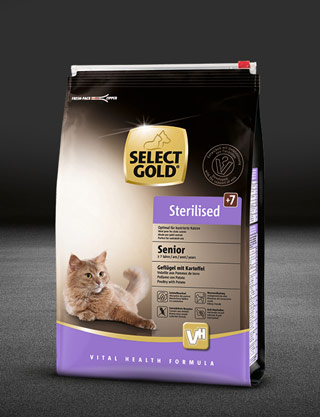 select gold sterilised senior gefl%C3%BCgel mit kartoffel beutel trocken 320x417px